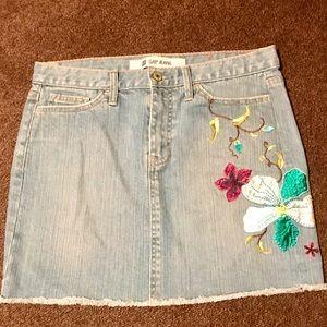 Chic Women's GAP Stretch Denim Mini Skirt